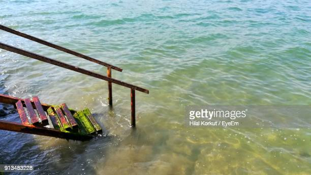 high angle view of sea - hilal stock photos and pictures