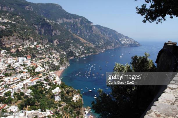 high angle view of sea - sorrento italy stock pictures, royalty-free photos & images