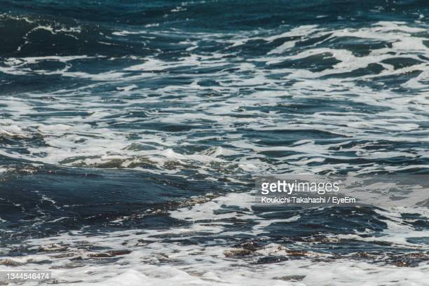 high angle view of sea shore - koukichi stock pictures, royalty-free photos & images