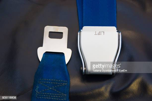 High Angle View Of Seat Belts
