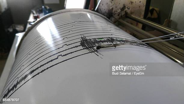 High Angle View Of Seismometer