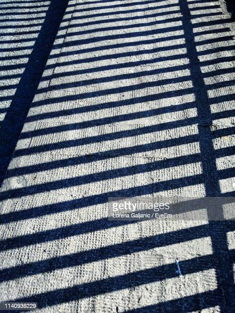 high angle view of shadow on road - lorena day stock pictures, royalty-free photos & images