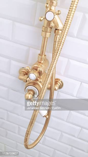 High Angle View Of Shower In Bathroom