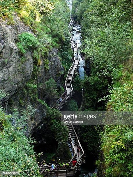 High angle view of Sigmund-Thun-Klamm (Gorge), Kaprun, High Tauern Range, Austria