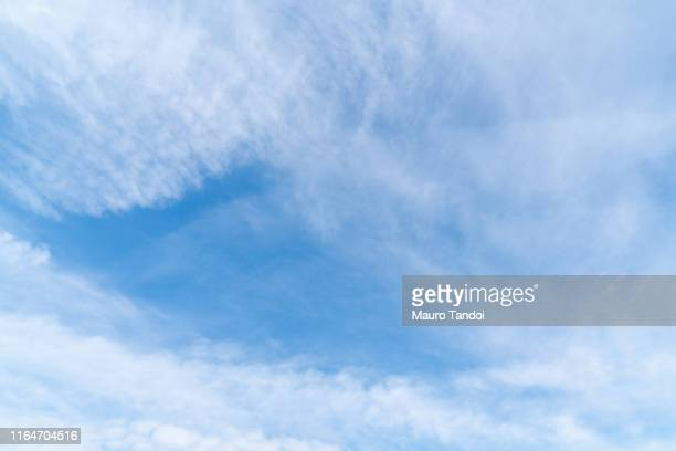 high angle view of sky - mauro tandoi stock photos and pictures