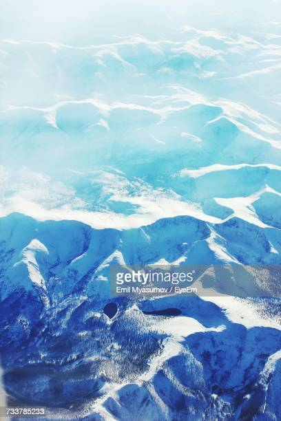 High Angle View Of Snow Covered Landscape