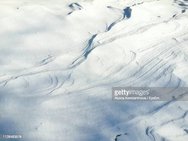 High Angle View Of Snowcapped Landscape