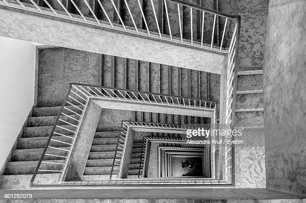 high angle view of staircase in building - alexandra krull stock-fotos und bilder