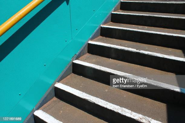 high angle view of staircase - barry wood stock pictures, royalty-free photos & images