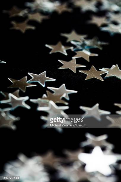 High Angle View Of Star Shape Decoration On Table