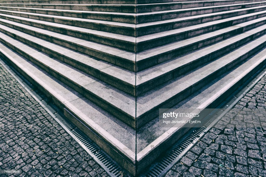 High Angle View Of Steps : Stock-Foto