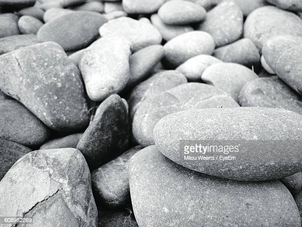 High Angle View Of Stones On Field