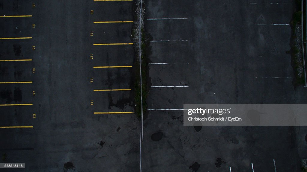High Angle View Of Street : Stock Photo