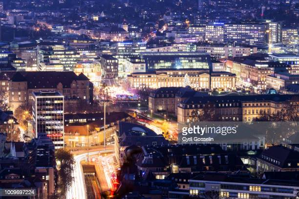 high angle view of stuttgart - stuttgart stock pictures, royalty-free photos & images