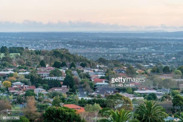 A high angle view of suburban Melbourne | Australia