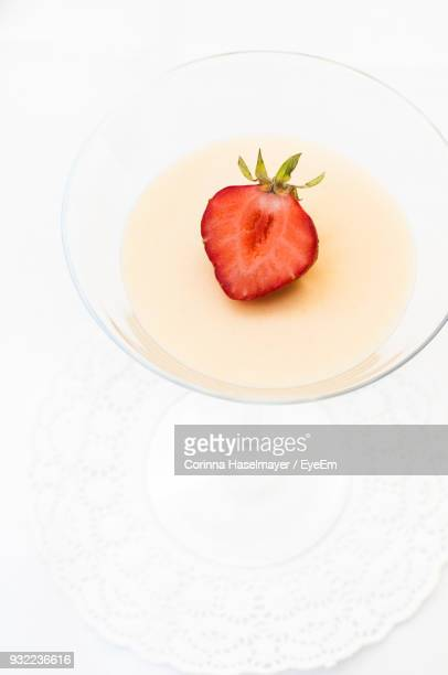 High Angle View Of Sweet Food In Bowl On Table