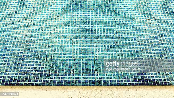 High Angle View Of Swimming Pool In Resort