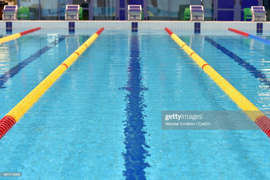 High Angle View Of Swimming Pool : Stock Photo