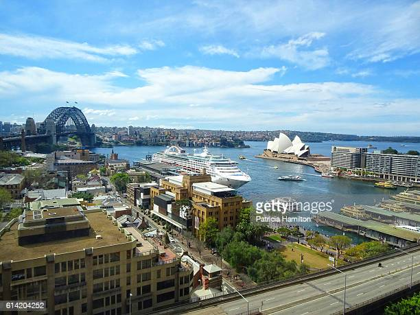 High angle view of Sydney Harbour