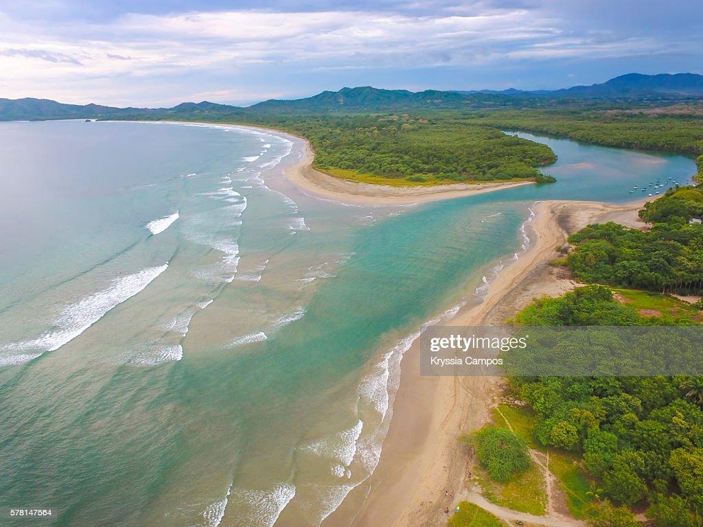 High angle view of Tamarindo Wildlife Refuge, Guanacaste - Costa Rica : Foto de stock