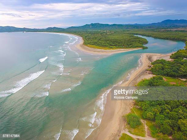 high angle view of tamarindo wildlife refuge, guanacaste - costa rica - guanacaste stock pictures, royalty-free photos & images