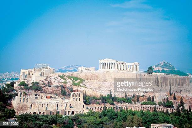 High angle view of Temple of Athena, Athens, Greece