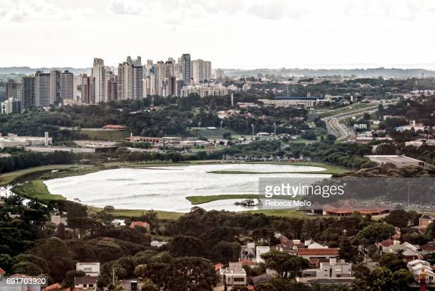High angle view of the Barigui Park , Curitiba, Brazil