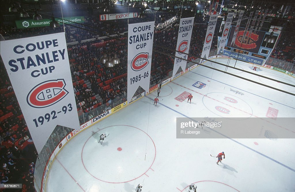 Canadiens On The Ice At The Forum : News Photo