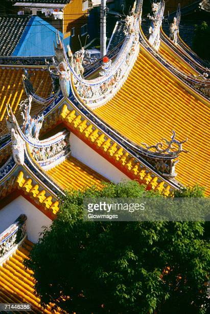 High angle view of the rooftop of a temple, Confucian Temple, Nagasaki, Japan