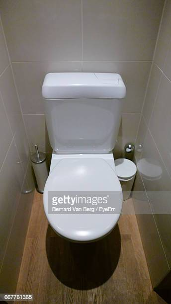 High Angle View Of Toilet Bowl