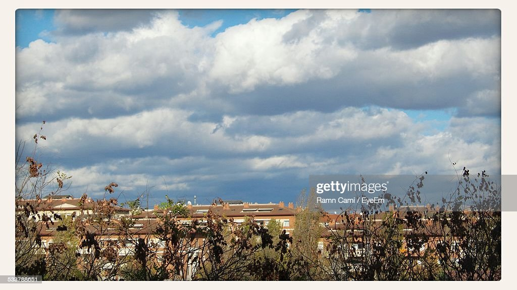 High Angle View Of Town : Foto stock