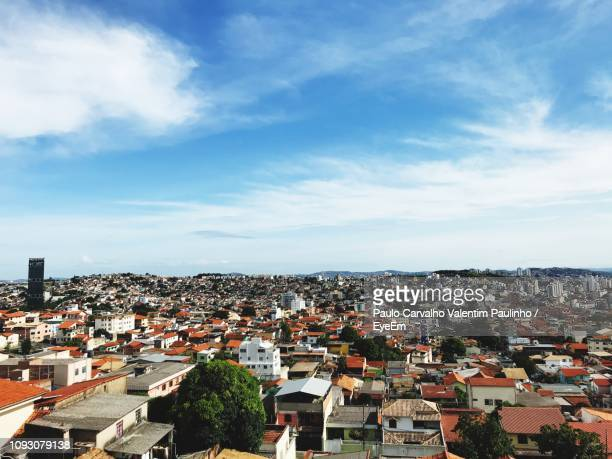 high angle view of townscape against sky - belo horizonte stock pictures, royalty-free photos & images