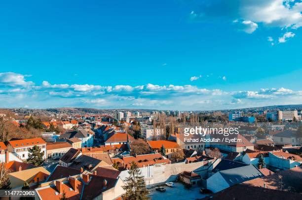 high angle view of townscape against sky - townscape stock pictures, royalty-free photos & images