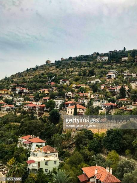 high angle view of townscape against sky - melike stock pictures, royalty-free photos & images