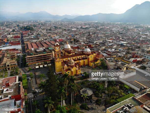 high angle view of townscape and cityscape - veracruz stock pictures, royalty-free photos & images