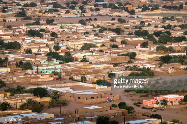 high angle view of townscape - khartoum stock pictures, royalty-free photos & images