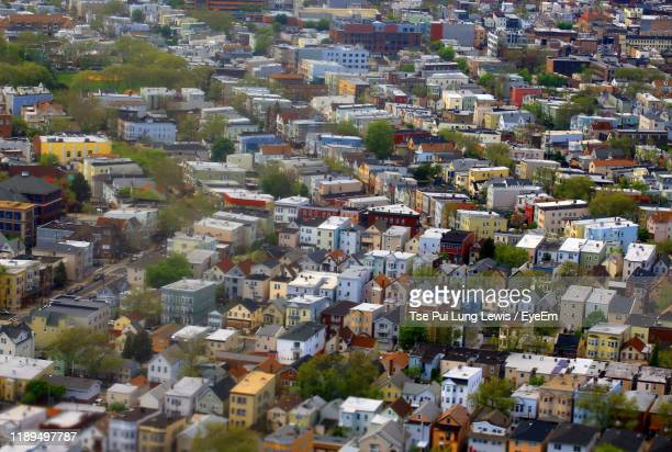 high angle view of townscape - newark new jersey stock pictures, royalty-free photos & images
