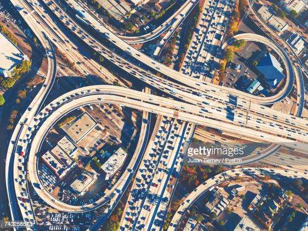 High Angle View Of Traffic On Highway