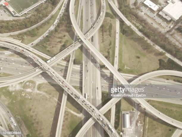 high angle view of traffic on road - overhemd en stropdas stock pictures, royalty-free photos & images