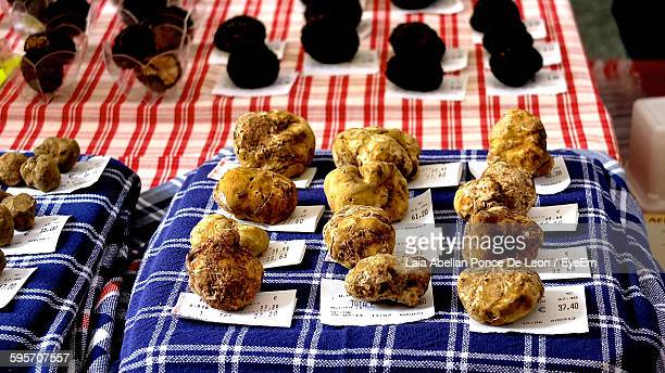High Angle View Of Truffles For Sale In Market