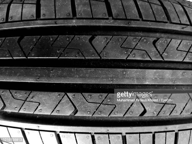 high angle view of tyres - 溝 ストックフォトと画像