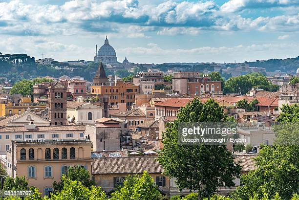 High Angle View Of Vatican City And St. Peters Basilica