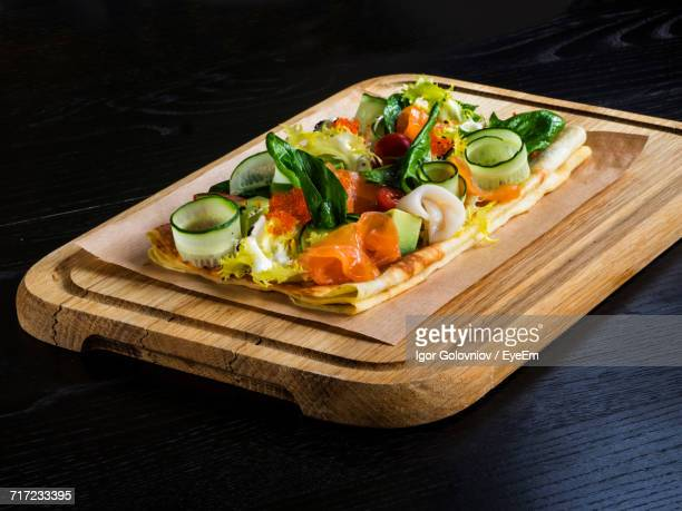 high angle view of vegetables and seafood - igor golovniov stock pictures, royalty-free photos & images