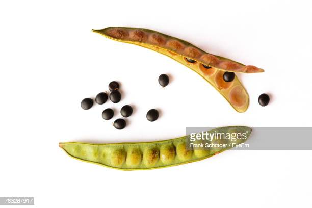 High Angle View Of Vegetables Over White Background