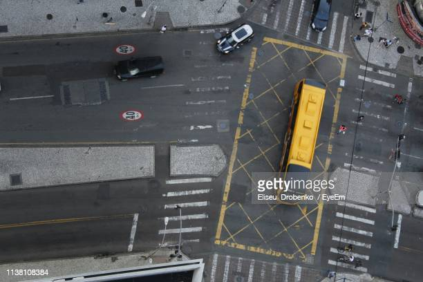 high angle view of vehicles on road - curitiba stock pictures, royalty-free photos & images
