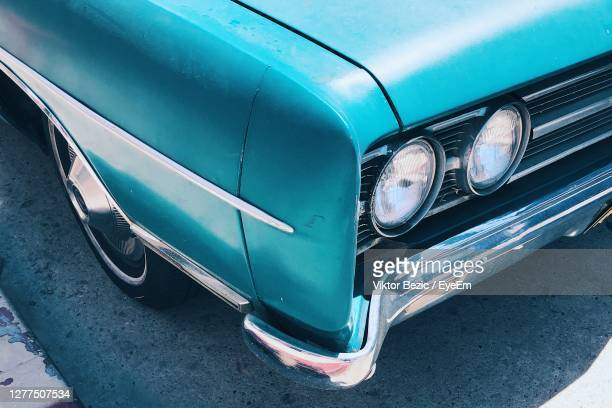 high angle view of vintage car - venice beach stock pictures, royalty-free photos & images
