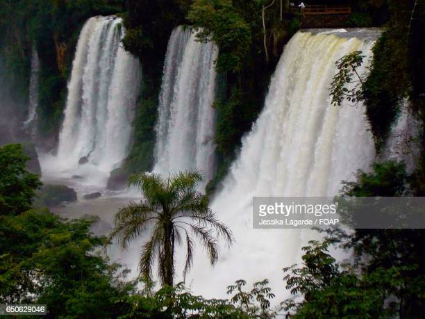 high angle view of waterfall - lagarde stock photos and pictures