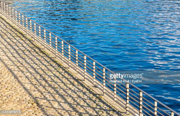high angle view of waterfront by lake - spree river stock pictures, royalty-free photos & images