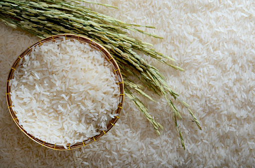 High Angle View Of Wheat On Rice - gettyimageskorea