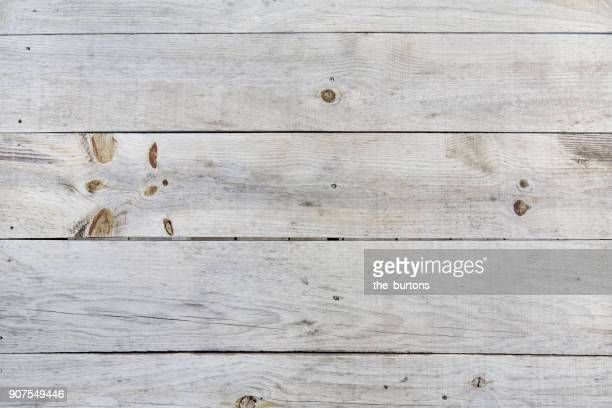 High angle view of wooden table